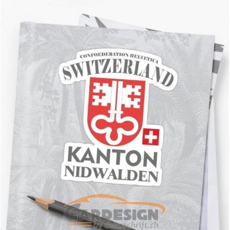 Aufkleber: Kanton Nidwalden Schweiz - bunte Aufkleber