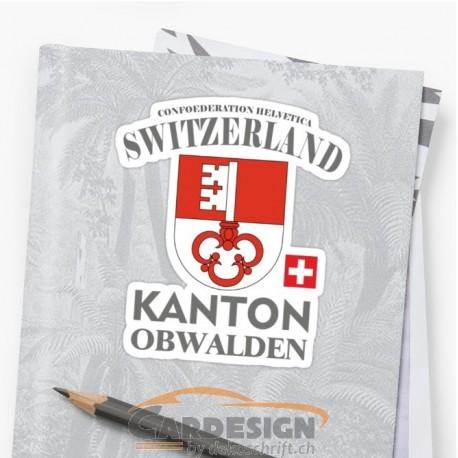Aufkleber: Kanton Obwalden Schweiz - bunte Aufkleber