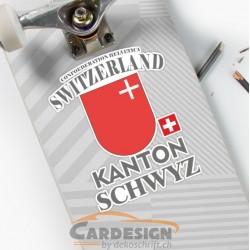 Kanton Schwyz Schweiz - bunte Aufkleber