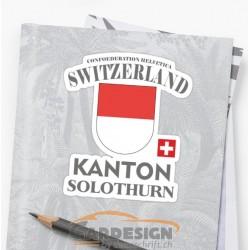 Kanton Solothurn Schweiz - bunte Aufkleber
