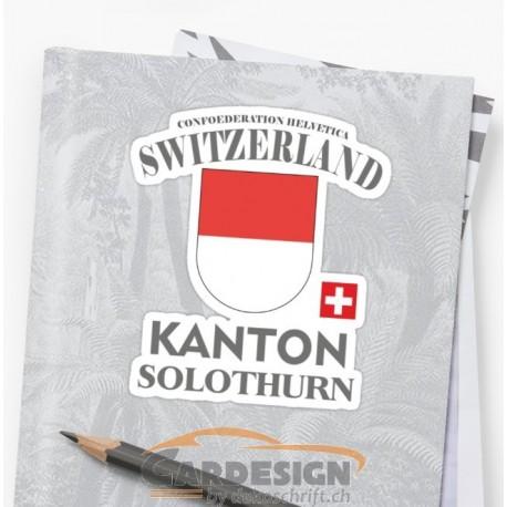 Aufkleber: Kanton Solothurn Schweiz - bunte Aufkleber