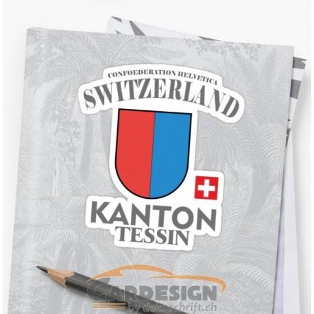 Aufkleber: Kanton Tessin Schweiz - bunte Aufkleber
