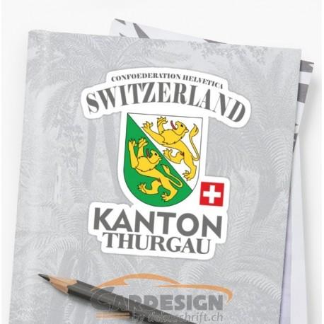 Aufkleber: Kanton Thurgau - bunte Aufkleber