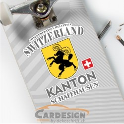 Kanton Schaffhausen Schweiz - bunte Aufkleber