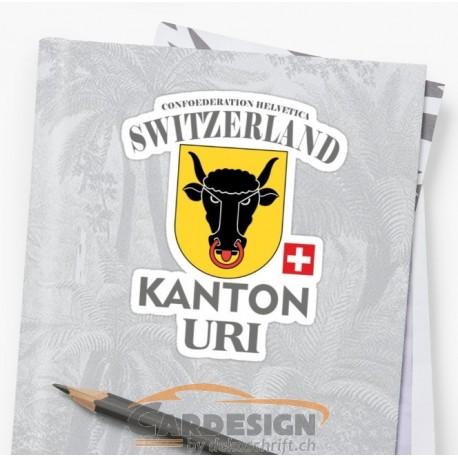 Aufkleber: Kanton Uri Schweiz - bunte Aufkleber