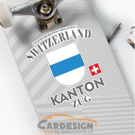 Aufkleber: Kanton Zug Schweiz - bunte Aufkleber