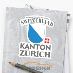 aufkleber autoaufkleber fl�gel, wolf, hund, babyaufkleber Kanton Zürich Schweiz - bunte Aufkleber