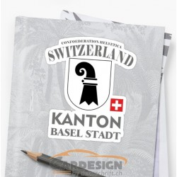 Kanton Basel Stadt - bunte Aufkleber