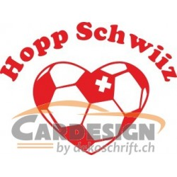 Hopp Schwiiz Autoaufkleber 3