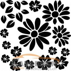 aufkleber autoaufkleber fl?gel, wolf, hund, babyaufkleber Blumen Set zum selber gestalten