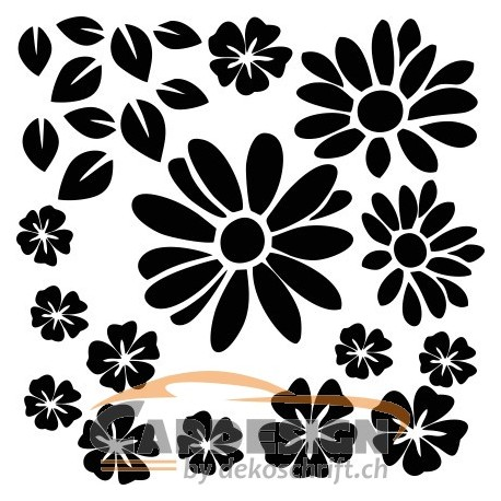 Aufkleber: Blumen selber gestalten 4