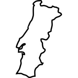 Umriss Portugal Aufkleber 3