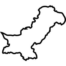 Pakistan Umriss Aufkleber 2