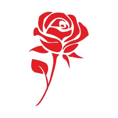 Aufkleber: Rose Aufkleber 2