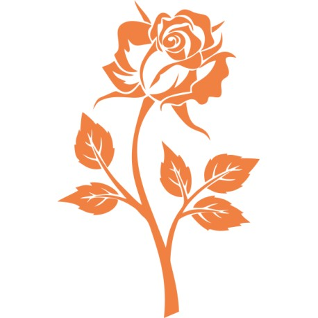 Aufkleber: Rose Aufkleber 4