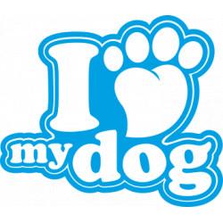 I love Dog Aufkleber
