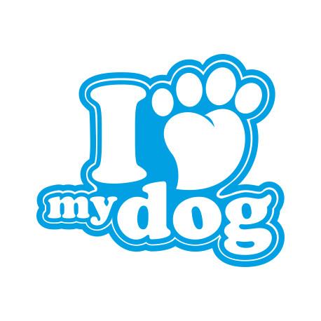 Aufkleber: I love Dog Aufkleber