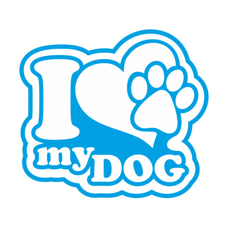 Aufkleber: i love Hund Aufkleber
