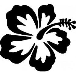 aufkleber autoaufkleber fl�gel, wolf, hund, babyaufkleber Hawaiblume 2