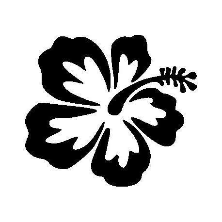 Aufkleber: Hawaiblume 2