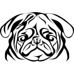 aufkleber autoaufkleber fl�gel, wolf, hund, babyaufkleber englische dogge Aufkleber