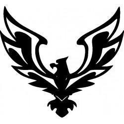 aufkleber autoaufkleber fl�gel, wolf, hund, babyaufkleber Adler 35