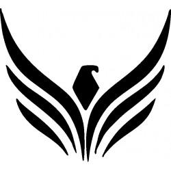 aufkleber autoaufkleber fl�gel, wolf, hund, babyaufkleber Adler Decor 25