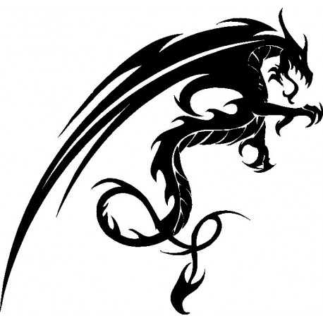 Aufkleber: Aufkleber Drachen 44