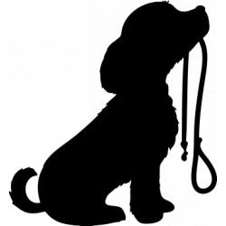 Autoaufkleber: Golden Retriever Aufkleber hundepfoten Aufkleber
