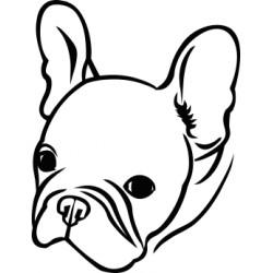 Autoaufkleber: Französische Dogge i love Hund Aufkleber