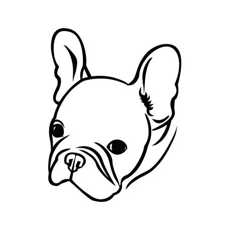 Aufkleber: Französische Dogge