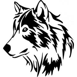 aufkleber autoaufkleber fl�gel, wolf, hund, babyaufkleber Wolf Kopf Aufkleber