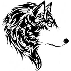 aufkleber autoaufkleber fl?gel, wolf, hund, babyaufkleber Wolf Kopf Aufkleber 21