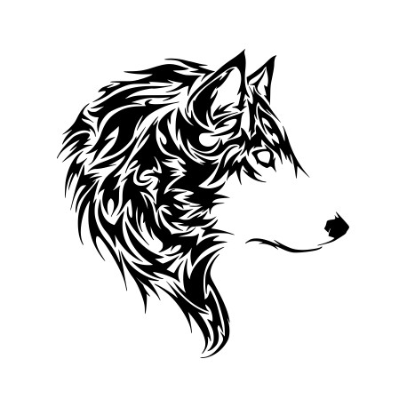 Aufkleber: Wolf Kopf Aufkleber 21