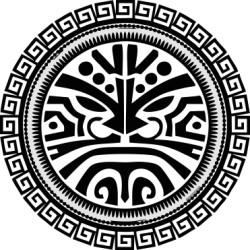Autoaufkleber: Maori - Tattoo 1 Maori - Runden Tattoo 1