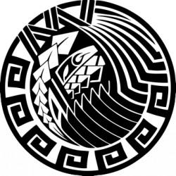 rundes Tattoo der Maori
