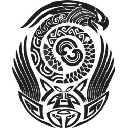 Maori - Tattoo 8 Aufkleber