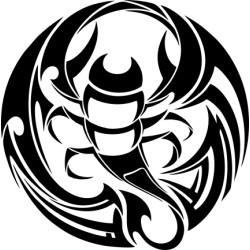 Autoaufkleber: Scorpion 5  Aufkleber Scorpion Aufkleber