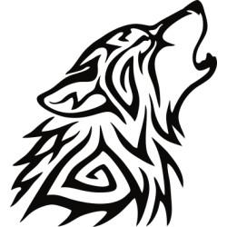 aufkleber autoaufkleber fl�gel, wolf, hund, babyaufkleber Wolf Kopf Aufkleber 21