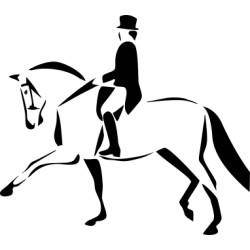 Autoaufkleber: Dressur Pferd 1 Aufkleber Dressur pferd pferdesport reiten