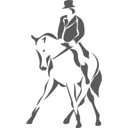 Autoaufkleber: Dressurreiten 2 Aufkleber Pferd 41