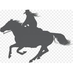 Autoaufkleber: Western Reiten Western Reiten