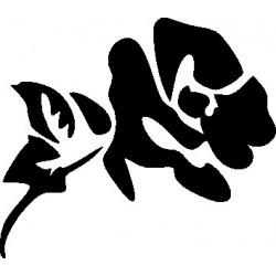 aufkleber autoaufkleber fl�gel, wolf, hund, babyaufkleber Wandaufkleber Blume 4