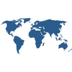 Weltkarte Aufkleber