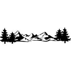 Autoaufkleber: Schweizer Berge 4 Aufkleber Schweizer Berge 4 Aufkleber
