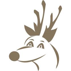 aufkleber autoaufkleber fl�gel, wolf, hund, babyaufkleber Rentier Weihnachtsmann