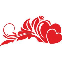 Autoaufkleber: Hochzeitsaufkleber Herz 10 Hochzeitsaufkleber Herz
