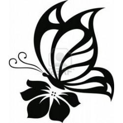 Autoaufkleber: Schmetterling Blume 2 Aufkleber Schmetterling Blume 2 Aufkleber