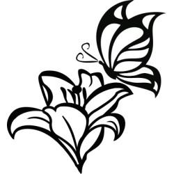 Autoaufkleber: Schmetterling Blume 3 Aufkleber Schmetterling Blume 3 Aufkleber