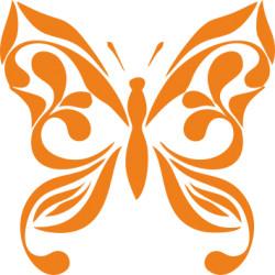 Autoaufkleber: Schmetterling 23 Aufkleber Schmetterling Blume 3 Aufkleber